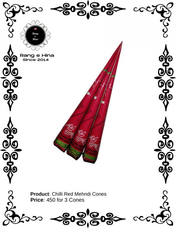 Chilli Red Mehndi Cones